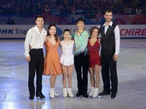 NHK Trophy Winners - Yuzuru Hanyu, Maia and Alex Shibutani, Satoko Miyahara, and Meagan and Eric