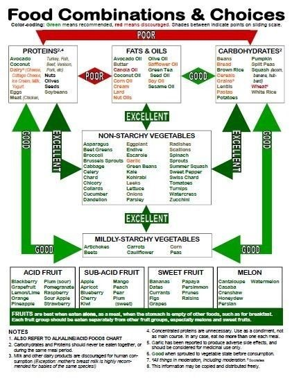 Food Combinations and Choices