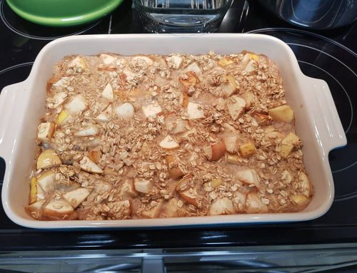 Pear Apple Baked Oatmeal